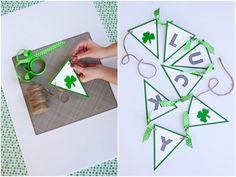 Last Minute St. Patrick's Day Ideas + Printables on HGTV! via @Kim -  The TomKat Studio