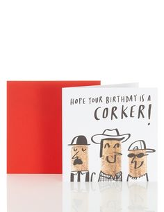 Funny Cork Birthday Card