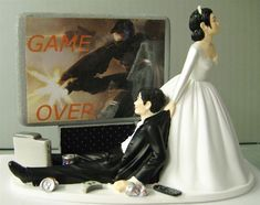 game over wedding cake