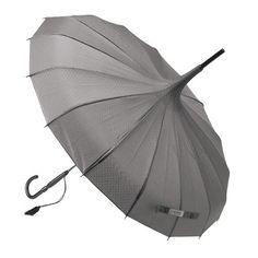 Parapluie, Ø 88 cm, nylon, gris et paillettes