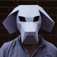 NEED A FANCY DRESS COSTUME? Make your own BEAGLE MASK from recycled card with these easy to follow instructions. These digital templates enable you to download, print and build your very own unique low polygon 3D Mask. You'll require no experience, no shipping and no waiting around to