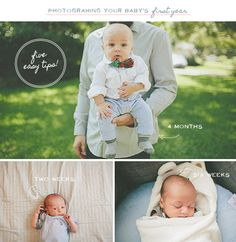 Easy Tips For Photographing Your Baby's First Year...