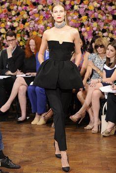 Love the oversized peplum. Christian Dior: A/W 2012-2013 Haute Couture
