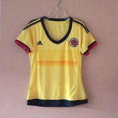 women's adidas sports shirt yellow FEDERACION COLOMBIANA DE FUTBOL #adidas…