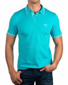 Polos Hugo Boss ® Hombre - Paul | ENVIO GRATIS Korea Fashion, Pop Fashion, Mens Fashion, Mens Polo T Shirts, Casual Wear For Men, Men Looks, Polo Ralph Lauren, Jeans, Mens Tops