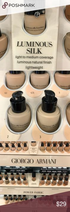 Two Giorgio Armani Luminous Silk Foundation Giorgio Armani Luminous Silk Foundation Giorgio Armani Makeup Foundation