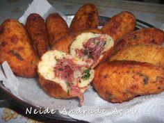 Culinária-Receitas - Mauro Rebelo: Bolinho de Mandioca com Carne Seca