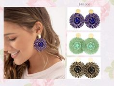Jewerly, Crochet Earrings, How To Make, Ideas, Fashion, Hardware Pulls, Ear Studs, Loom, Necklaces