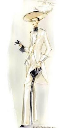 Maggie Norris Couture  Inspired by My Fair Lady  Created by Cecile Beaton  Staring Audrey Hepburn   Illustration by Mengjie Di