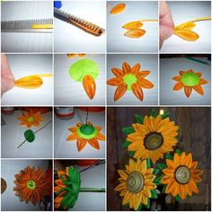 Quillingis anartform that involves the use of strips of paper that are rolled, shaped, and glued together to create decorative designs.If you love quilling art works and would like to do it yourself, here is a nice tutorial for you to make beautiful quilling sunflowers for home decoration.Of course, it …