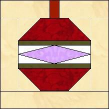 Quilt-Pro - Block of the Day-Christmas Ornament  The Block of the Day is available to all quilters, regardless of whether you own our software programs.