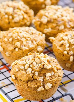 Pumpkin Granola Muffins - iFOODreal | Delicious Clean Eating Recipes