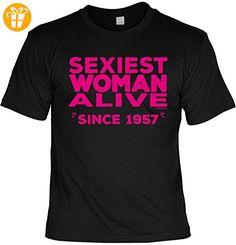 Cooles T-Shirt zum 60. Geburtstag Sexiest Woman Alive Since 1957 Geschenk 60. Geburtstag 60 Jahre Geburtstagsgeschenk lustiges Tshirt zum Geburtstag (*Partner-Link)