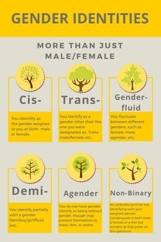 """Gender Identities - More Than Just Male/Female  Artist: Kayla, """"Well Hello There"""" (http://demongirlblaze.tumblr.com/post/117277550960/i-made-this-for-my-informative-speech-in-school)"""