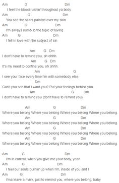 meet me in the middle fifty shades of grey lyrics and chords