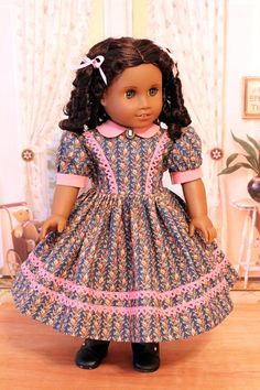 Civil War Style Day Dress for Cecile, Marie Grace,or Addy