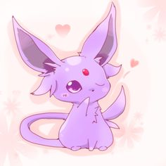 Espeon is cute and knows it.
