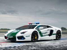 Carros de lujo de Policia Dubái
