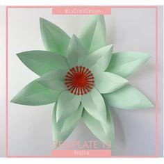 Paper Flower Template, DIY Paper Flower, DIY Giant Paper Flower Templates, PDF Paper Flower, Paperflower Kit, Base and Instruction Including