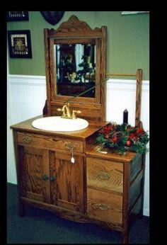 Primitive bathrooms 163818505165205157 - Worth building a house for! Source by rpotts Best Bathroom Vanities, Bathroom Sink Vanity, Washroom, Bathroom Ideas, Victorian Bathroom, Vintage Bathrooms, Repurposed Furniture, Diy Furniture, Unique Furniture