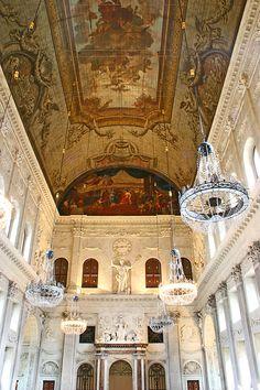 Interior del Palacio Real de Ámsterdam, Holanda