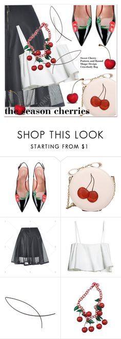 """""""season cherries"""" by paculi ❤ liked on Polyvore featuring RED Valentino"""
