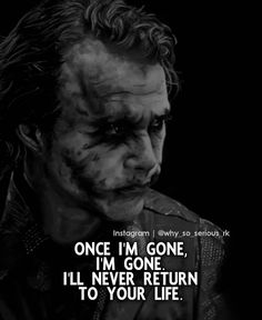 Joker Love Quotes, Joker Qoutes, Done Quotes, Go For It Quotes, Joker Images, Joker Pics, Great Motivational Quotes, Inspirational Quotes, Life Reflection Quotes