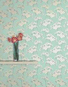 Chic Mint Green Wallpaper.