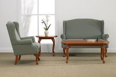 This Wingback chair was designed in consultation with healthcare specialists for use in healthcare and senior facilities. #healthcarefurniture