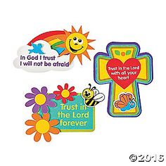 """""""Trust In The Lord"""" Magnet Craft Kit. Stick these up as a reminder to put your """"trust in the Lord."""" Includes self-adhesive foam ..."""