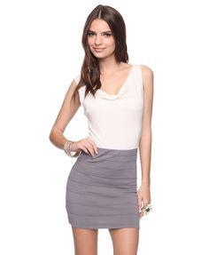 Cowl Neck Contrast Dress  Forever21.com  $25