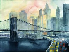 Picturesque Watercolor Cityscapes by Maja Wrońska