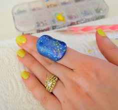 Very Enchanting: Galaxy Nail Art Inspired Jewelry Makeover