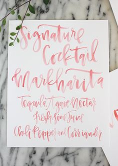 Recent work // calligraphy by A Fabulous Fete