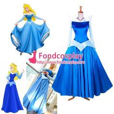 Disney-the Princess sleeping Beauty-aurora dress costume tailor-made [G1398]