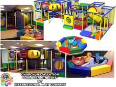 Another great design and install we did for a church, children's ministry. This can also be used for a children's center, airport, retail play, smaller entertainment center. www.iplayco.com