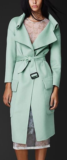 Double Angora and Wool Shell Coat | Burberry