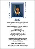 add a graduating photo to your high school invitation and announcement cards for graduation at InvitationsByU.com