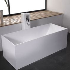 Purchase Online Prodigg 170 BECCO Stone Free Standing Bath Rectangle Shape Box Size ml x ml x ml White, Black, Grey Colour Solid Surface Square Bathtub, Small Bathtub, Clawfoot Bathtub, Small Bathroom, Bathroom Ideas, Stone Bathtub, Cast Iron Bathtub, Solid Surface, Rectangle Shape
