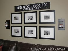 Love the Family sign and pictures!!! Would look great in the hallway