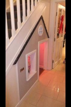 Love this under stairs idea!                                                                                                                                                                                 More