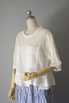 M61337 魔法のデパートの窓ポケット付きブラウス #miyaco #fashion #lace #レース #ブラウス