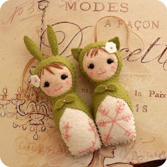Little felt dolls