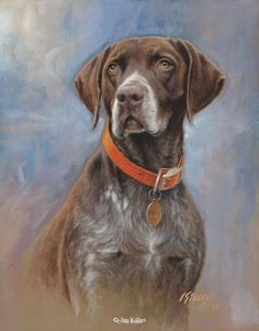 35 Beautiful Dog Paintings and from top artists around the world - Hunde Animal Paintings, Animal Drawings, Leon Logo, Every Dog Breed, Dog Artwork, Dibujos Cute, Hunting Dogs, Wildlife Art, Dog Portraits