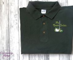 This is the only Green Jacket that my hubby will get no matter how much he plays... LOL  Golf shirt for the Golfer - the Man in your life ! Great Fathers Day Gift - Mens Birthday gifts   I always use top Brand Golf shirts Sizes: S, M, L, XL, You can get it in 2X or larger, see listing for add on extra price https://www.etsy.com/listing/168269734/upgrade-to-sizes-xxl-xxxl-or-larger?ref=shop_home_active  Need you order quickly, move your order to the top of the lis...