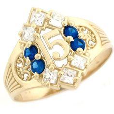 Quinceanera 15 Anos Ring