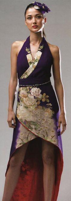 Kimono Reincarnate: Kimono Remake Dress