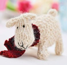 Free Knitting Pattern for a Little Sheep