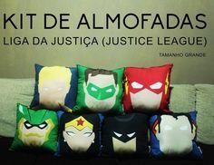 Kit 7 Almofadas Liga da Justiça 50% DE DESCONTO