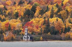 from late autumn, Grand Island East Channel Lighthouse - an amazing piece of great lakes history  http://www.LakeSuperiorPhoto.com/